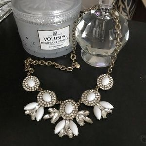 J.Crew White Ornate Collar Necklace